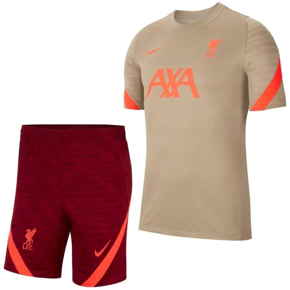 Nike Liverpool Strike Trainingsset 2021-2022 Bruin Rood