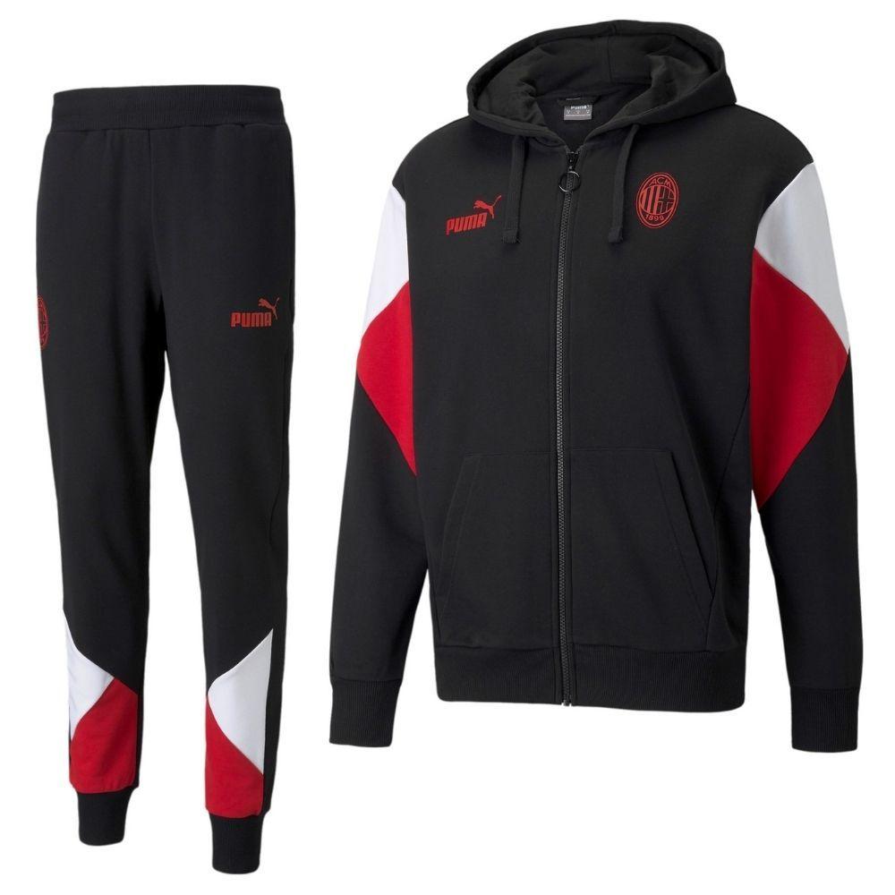 PUMA AC Milan FtblCulture Trainingspak 2021-2022 Zwart Rood Wit