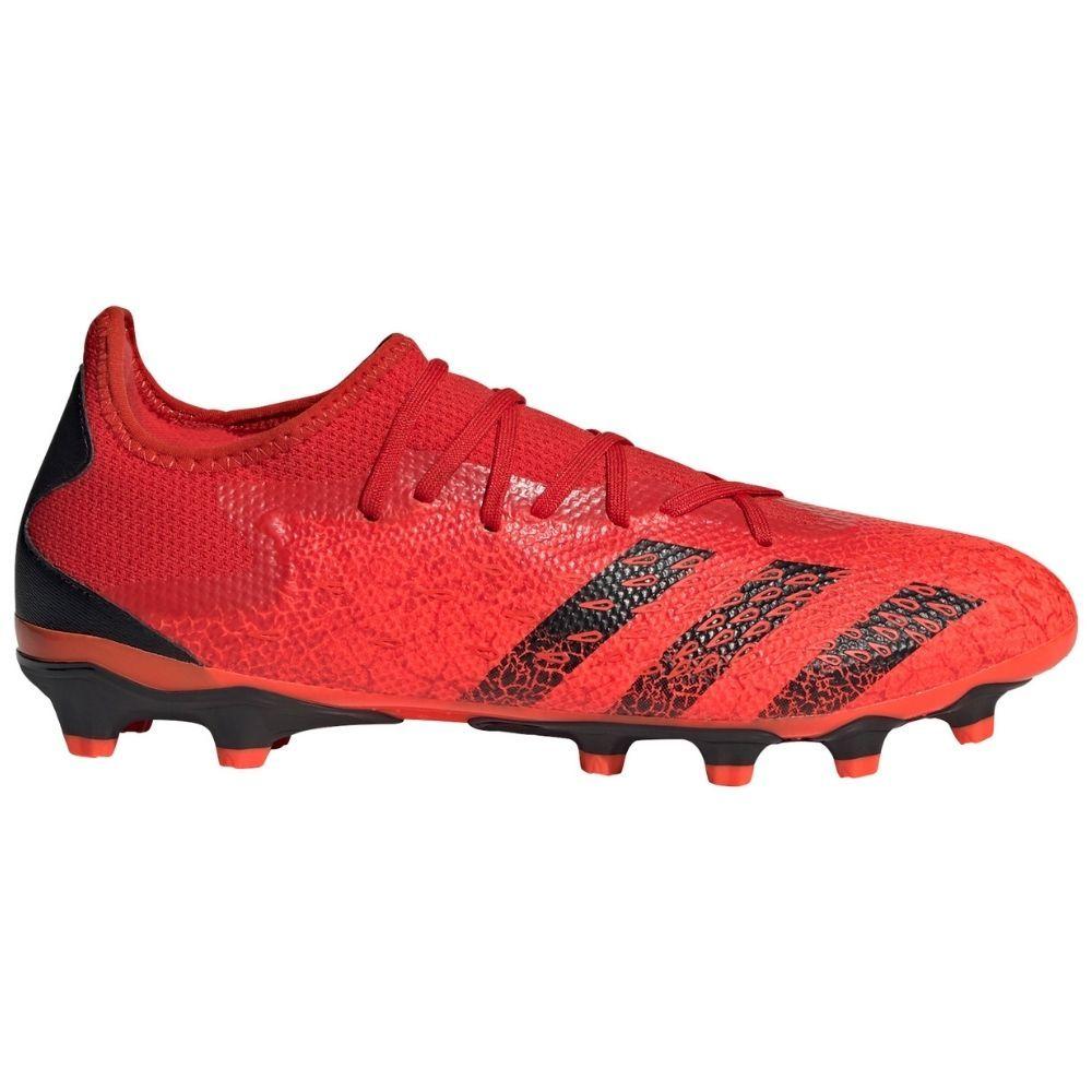 adidas Predator Freak.3 Low Gras Voetbalschoenen (FG) Rood Zwart Rood