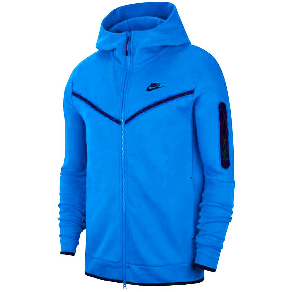 Nike Tech Fleece Hoodie Full Zip Felblauw