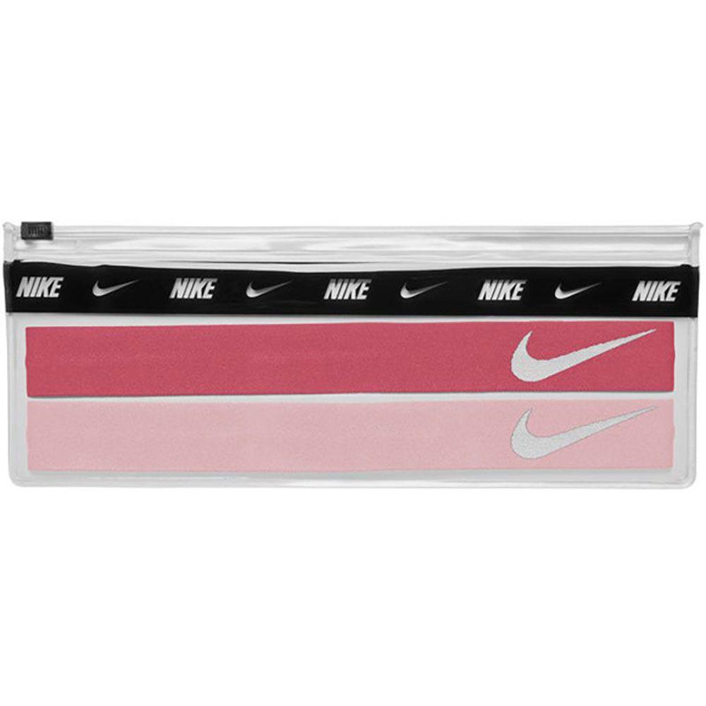 Nike Hoofdbanden Incl. Tasje 2 Stuks Roze Wit