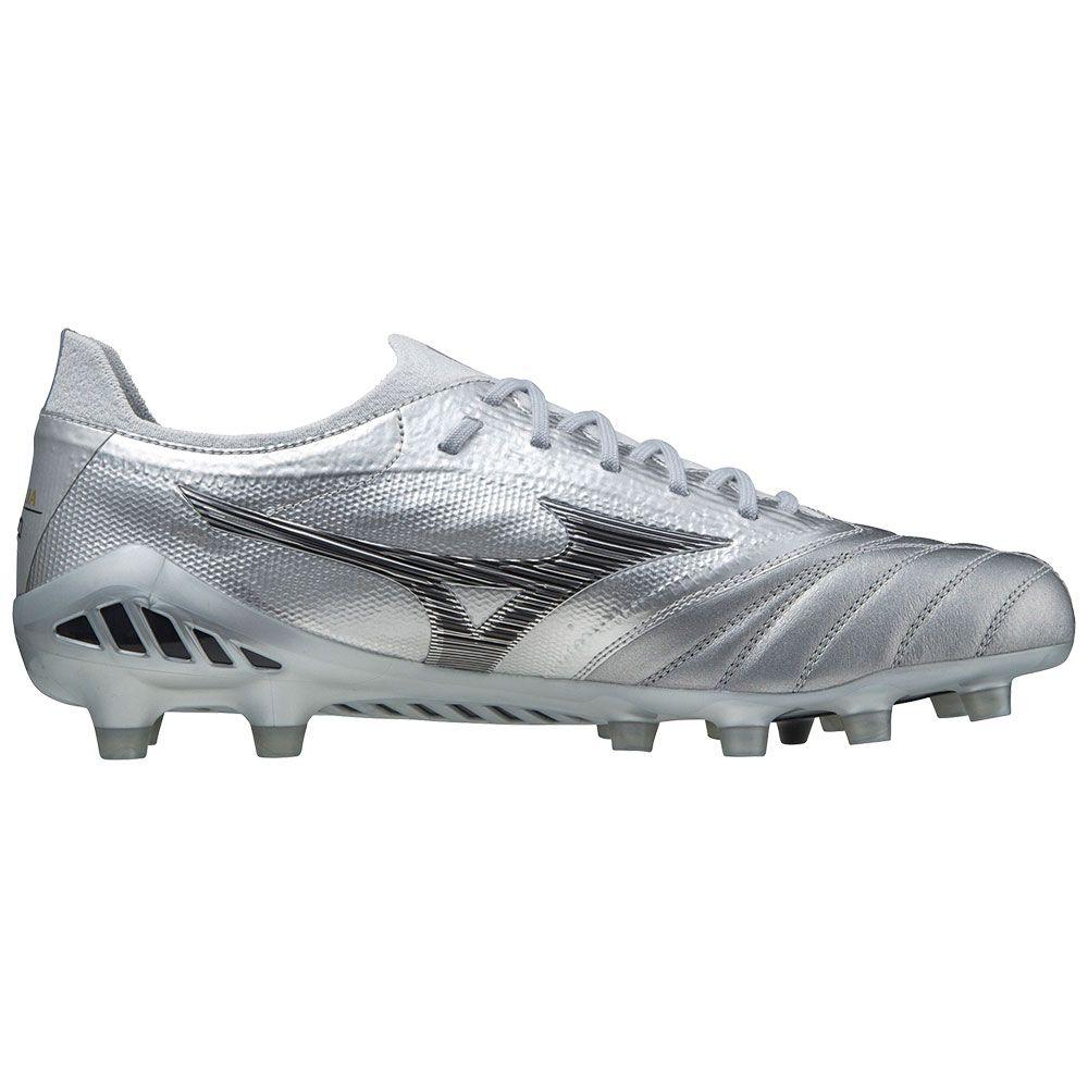Mizuno Morelia Neo III Beta JPN Gras Voetbalschoenen (FG) Zilver Zwart Zilver