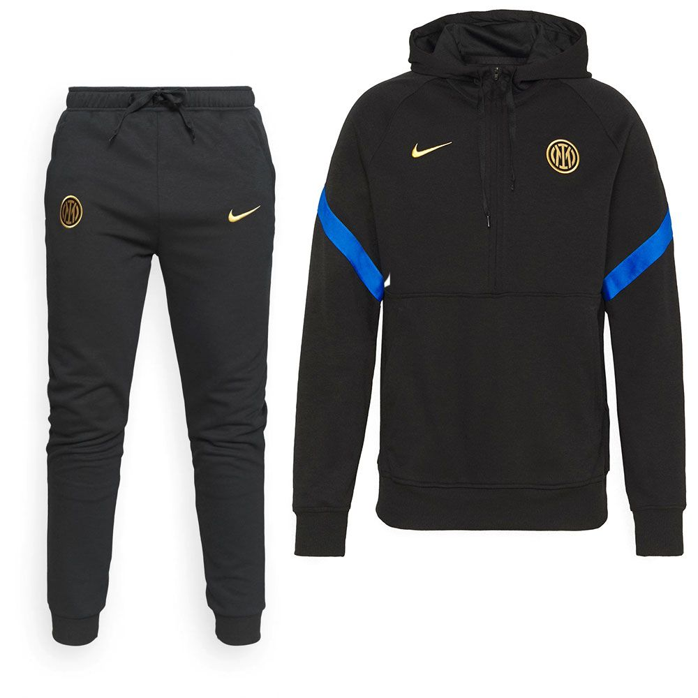 Nike Inter Milan Travel Fleece Trainingspak 2021-2022 Zwart Blauw