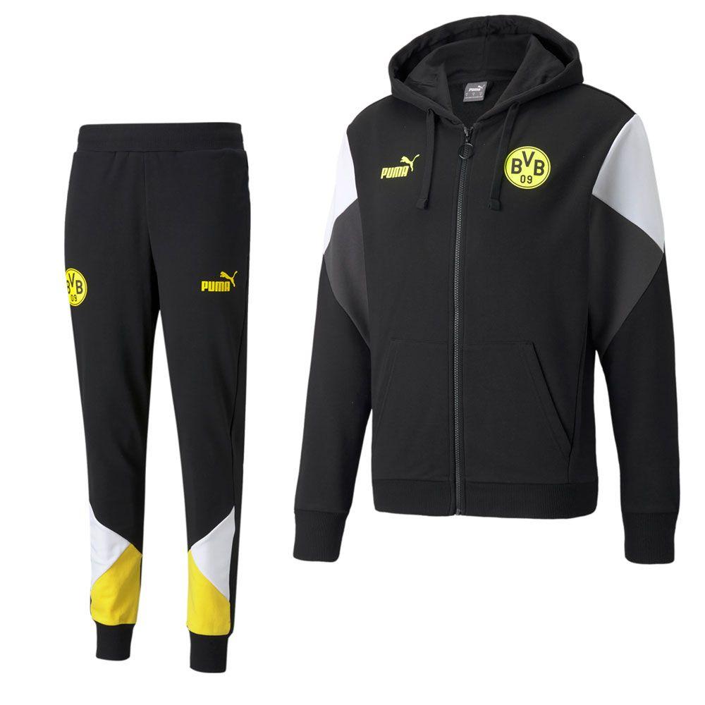 PUMA Borussia Dortmund FtblCulture Trainingspak 2021-2022 Zwart Geel