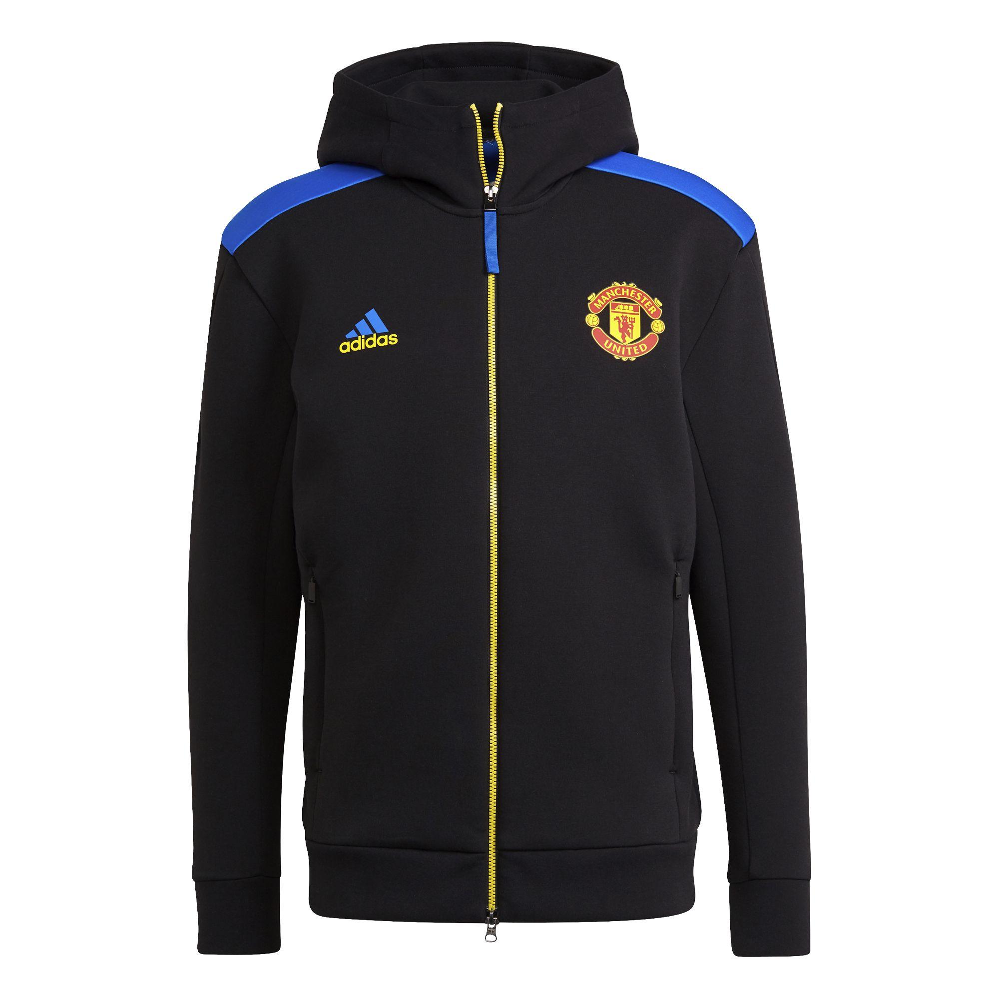 adidas Manchester United ZNE Trainingsjack 2021-2022 Zwart Blauw