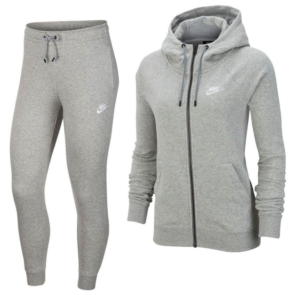 Nike Sportswear Essential Trainingspak Vrouwen Grijs Wit