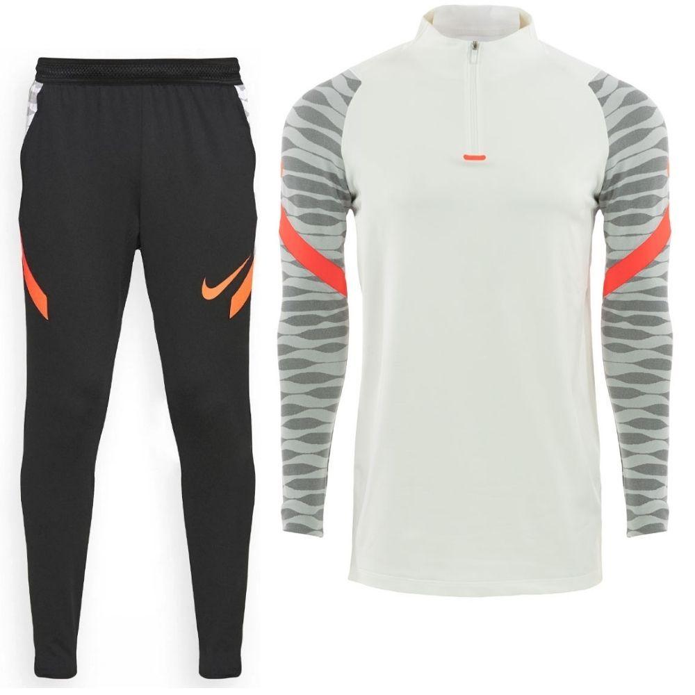 Nike Strike 21 Trainingspak Wit Zwart Felrood