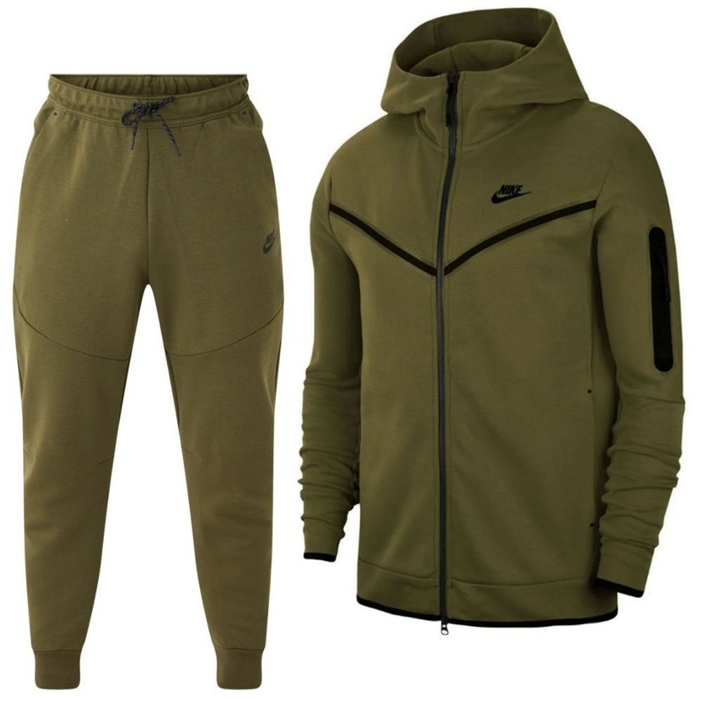 Nike Tech Fleece Trainingspak Full-Zip Donkergroen