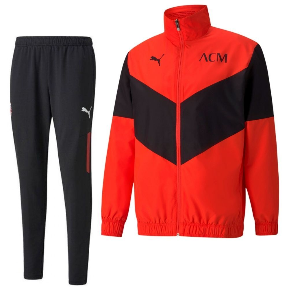 PUMA AC Milan Pre Match Trainingspak 2021-2022 Rood Zwart