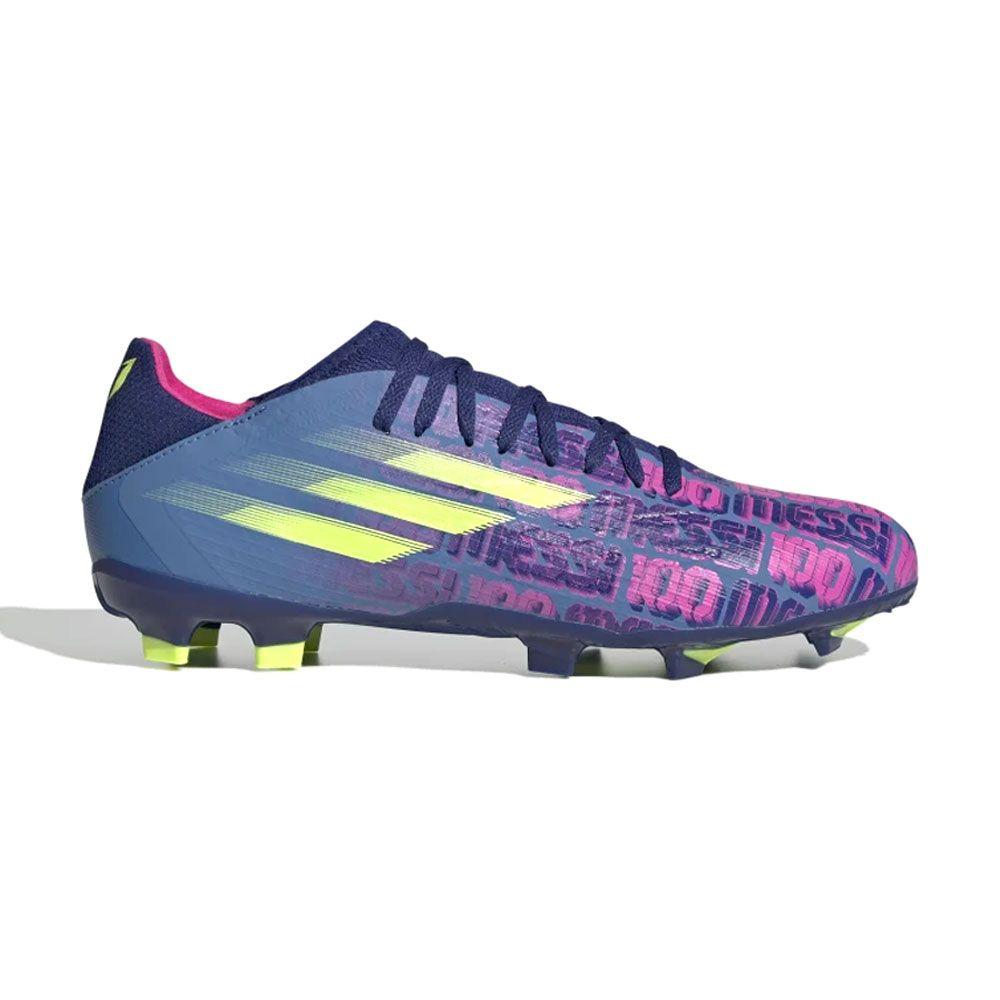 adidas X Speedflow Messi.3 Gras Voetbalschoenen (FG) Blauw Roze Geel