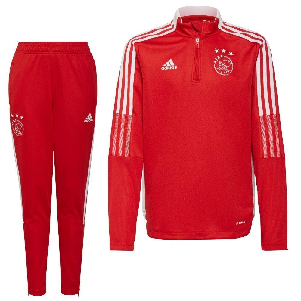 adidas Ajax Drill Trainingspak 2021-2022 Kids Rood