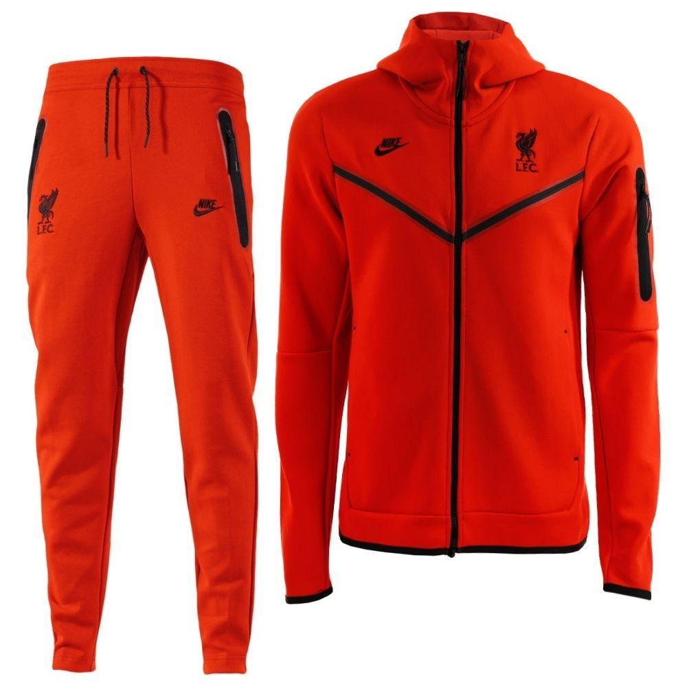 Nike Liverpool Tech Fleece Trainingspak Full-Zip 2021-2022 Rood Zwart