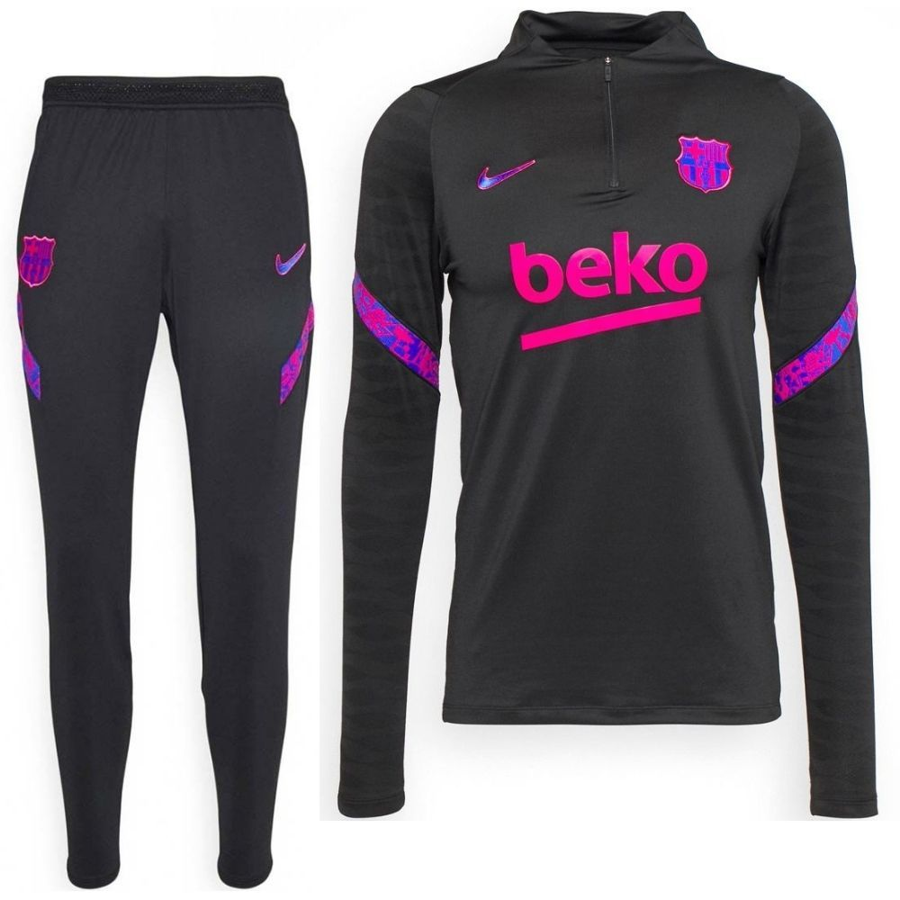 Nike FC Barcelona Strike Drill Trainingspak 2021-2022 Zwart Roze
