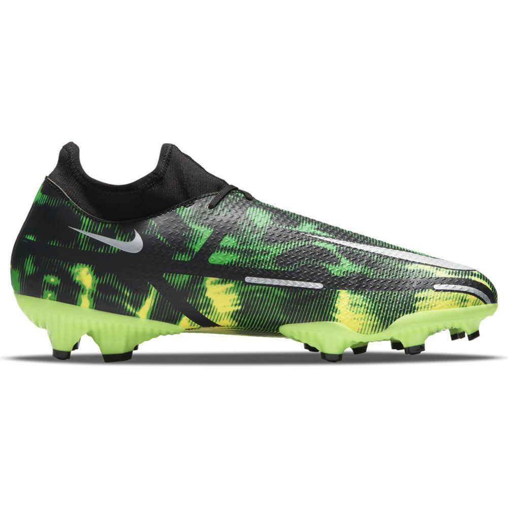 Nike Phantom GT2 Academy DF Gras / Kunstgras Voetbalschoenen (MG) Zwart Grijs Groen