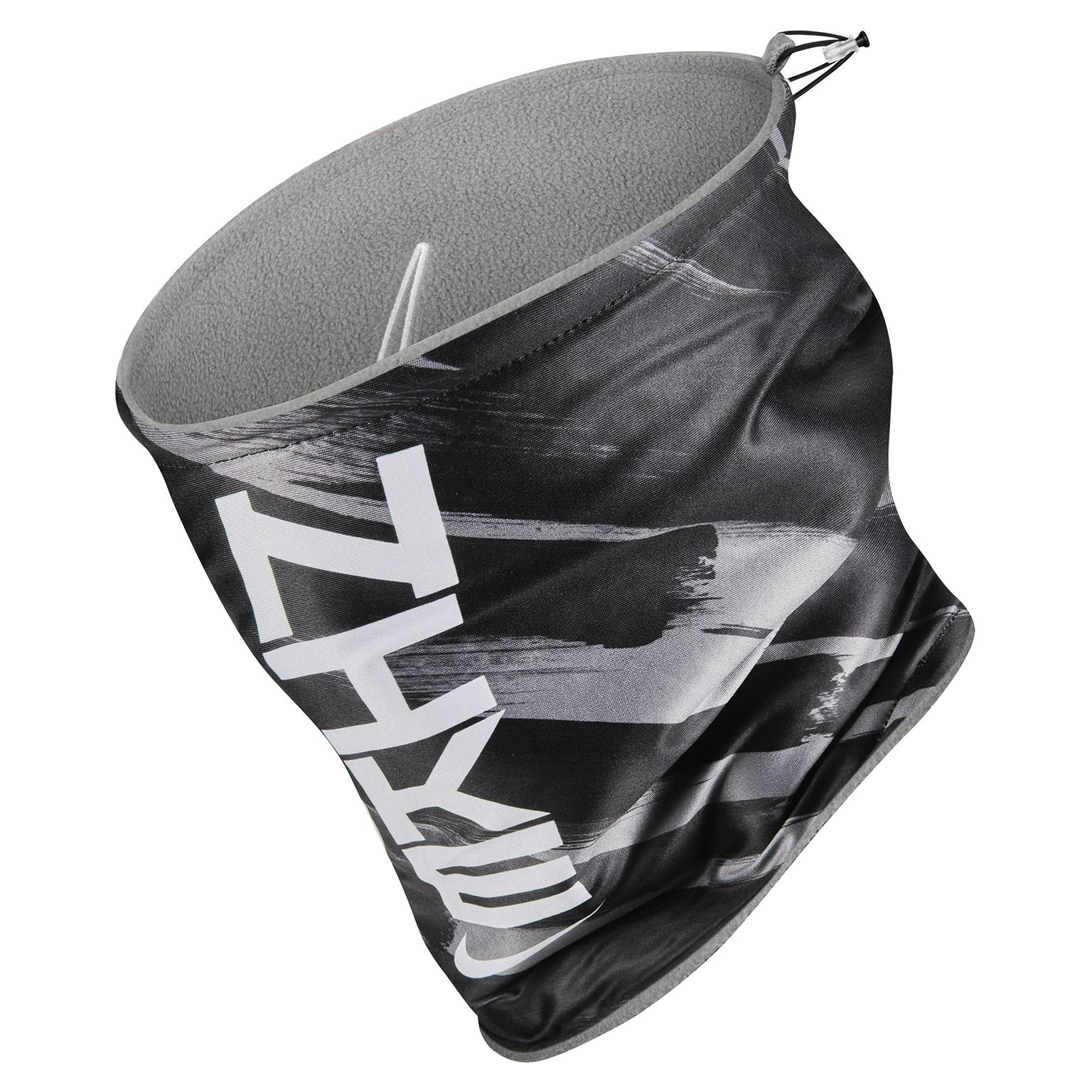 Nike Nekwarmer 2.0 Reversible Grijs Zwart Wit