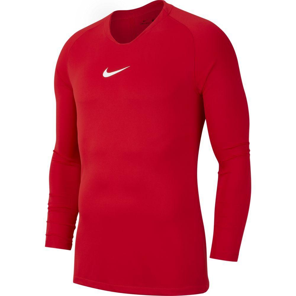 Nike Dri-FIT Park Ondershirt Lange Mouwen Fel Rood
