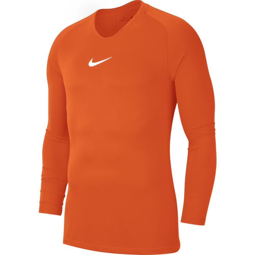 Nike Dri-FIT Park Ondershirt Lange Mouwen Oranje