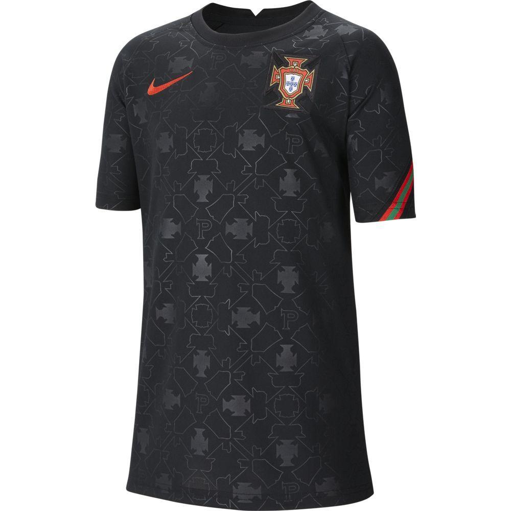 Nike Portugal Pre Match Trainingsshirt 2020-2022 Kids Zwart Rood