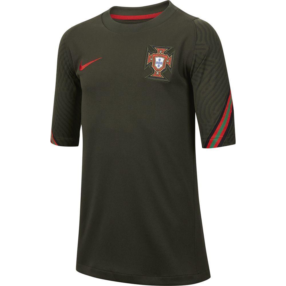 Nike Portugal Strike Trainingsshirt 2020-2022 Kids Donkergroen Rood