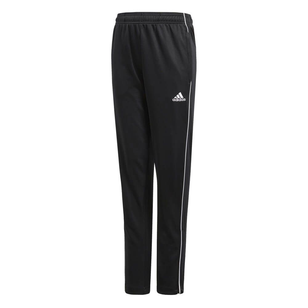 adidas CORE18 Trainingsbroek Kids Zwart Wit Zwart
