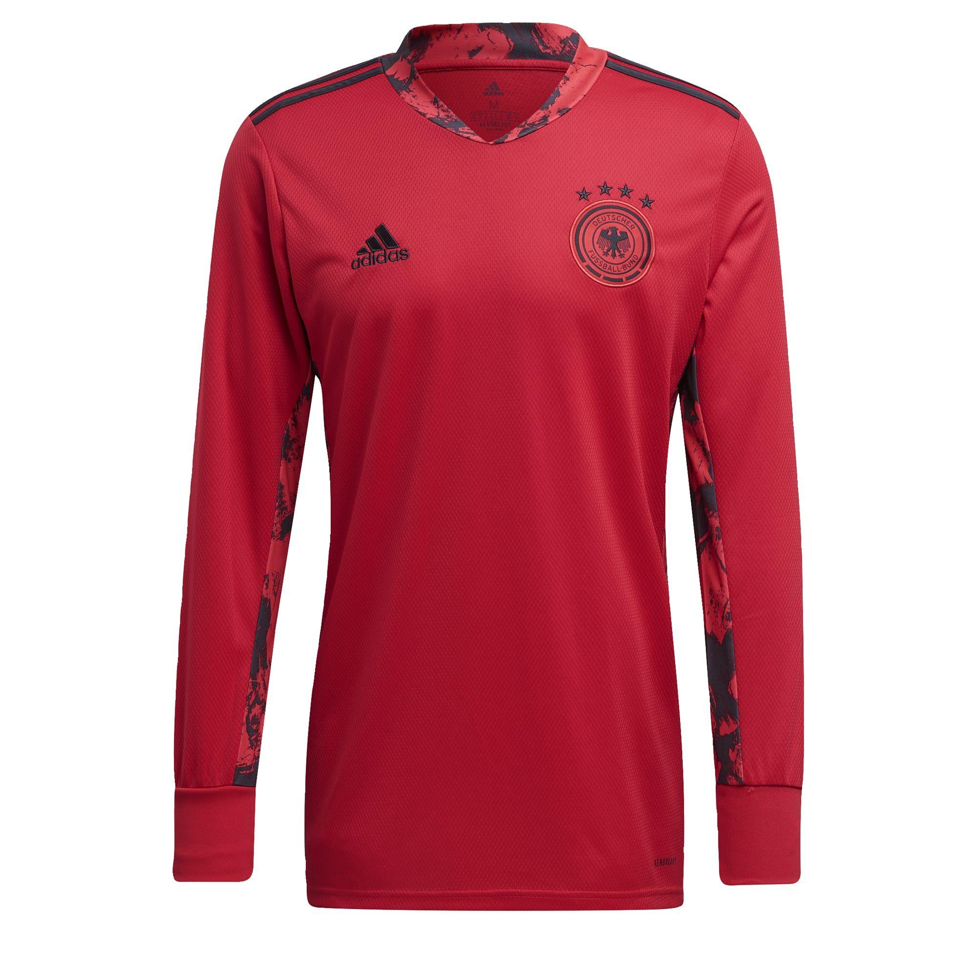 adidas Duitsland Keepersshirt Thuis 2020 Rood Zwart