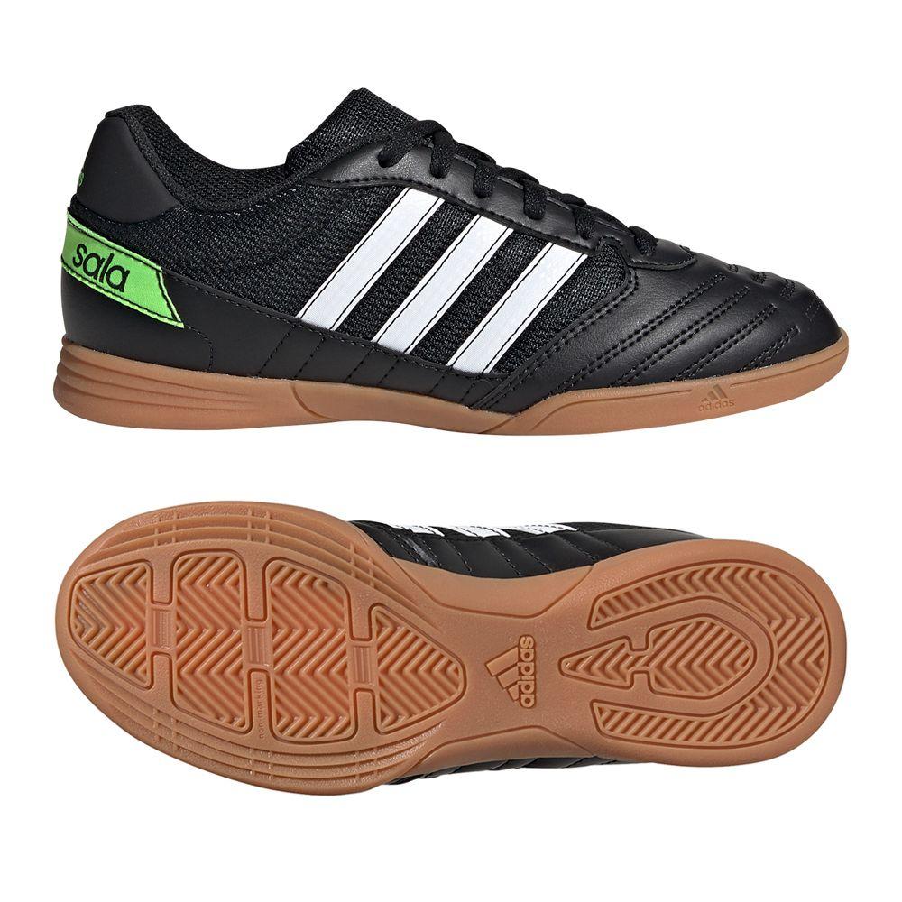 adidas Super Sala Zaalvoetbalschoenen (IN) Kids Zwart Wit Groen