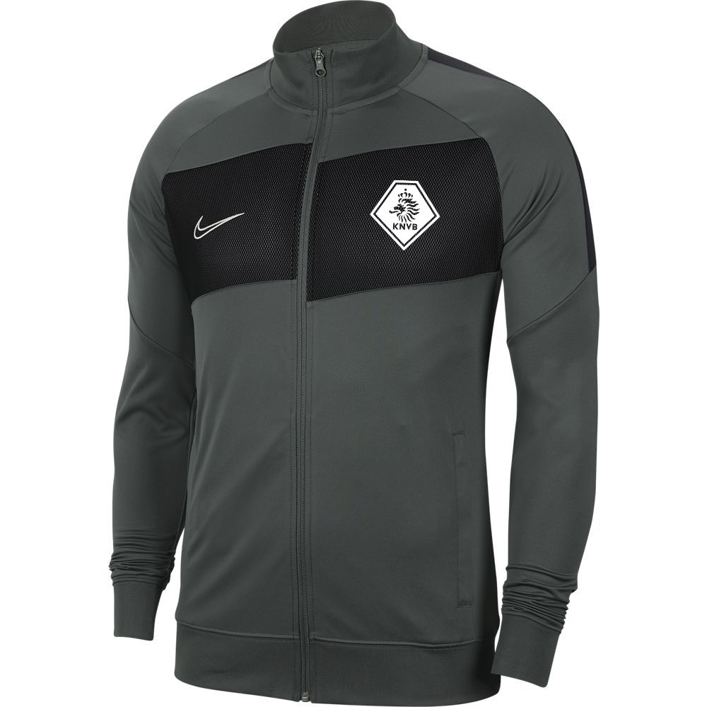 Nike KNVB Academy Pro Trainingsjack Antraciet Zwart