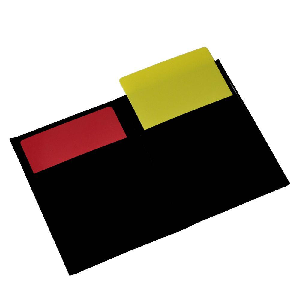 Rode/gele kaartenset in mapje