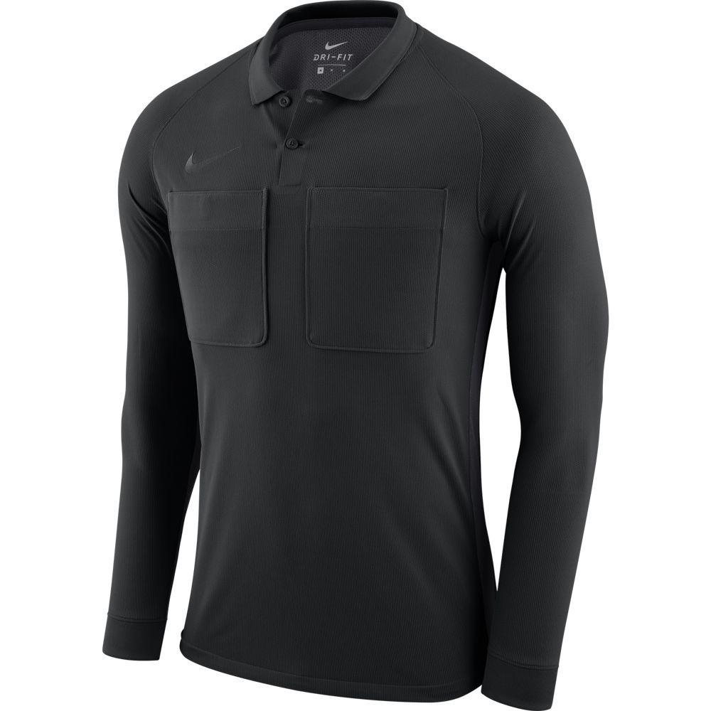 Nike Dry Scheidsrechtersshirt Lange Mouwen Zwart