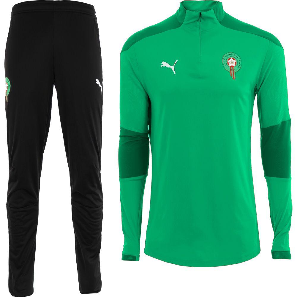 PUMA Marokko Zip Trainingspak 2020-2021 Groen Zwart