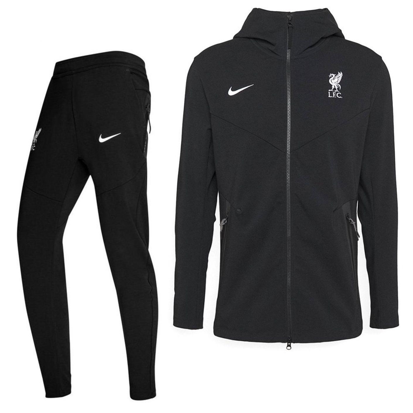Nike Liverpool Tech Fleece CL Trainingspak 2020-2021 Kids Zwart