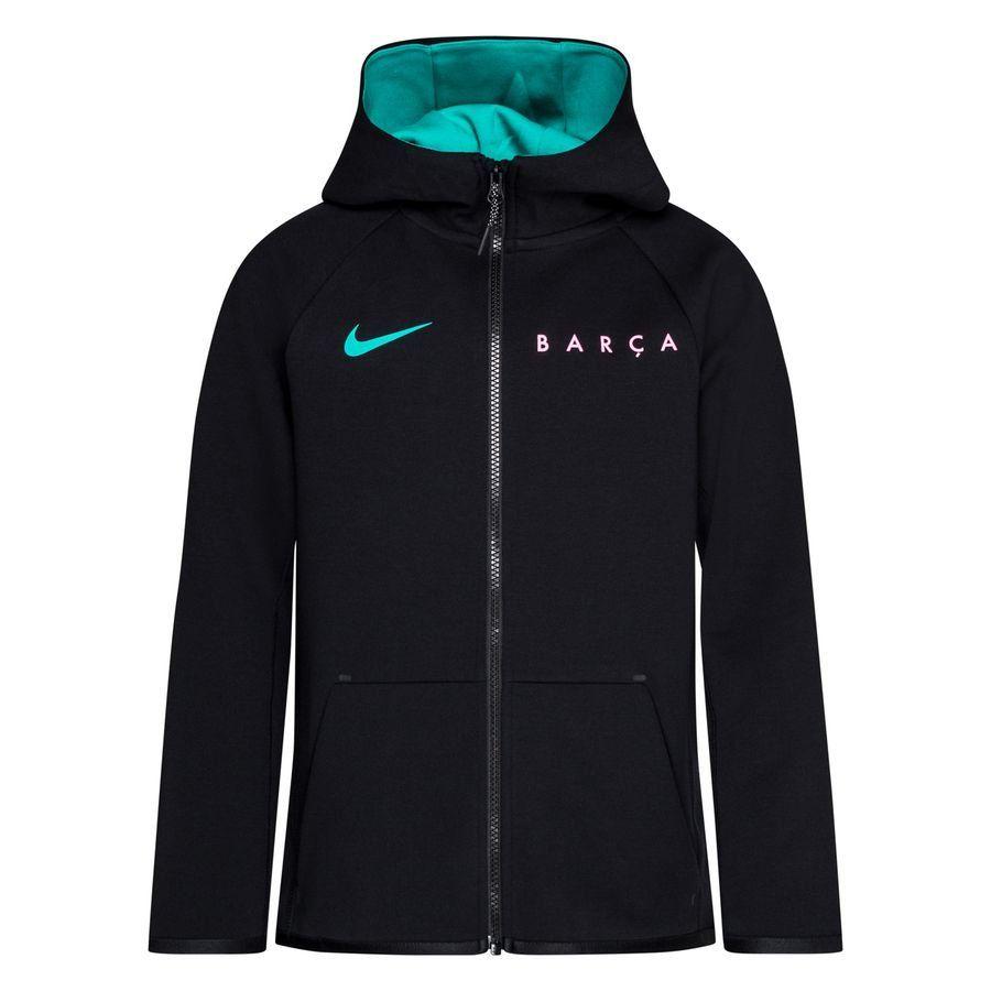 Nike FC Barcelona Tech Fleece FZ Hoodie CL 2020-2021 Kids Zwart