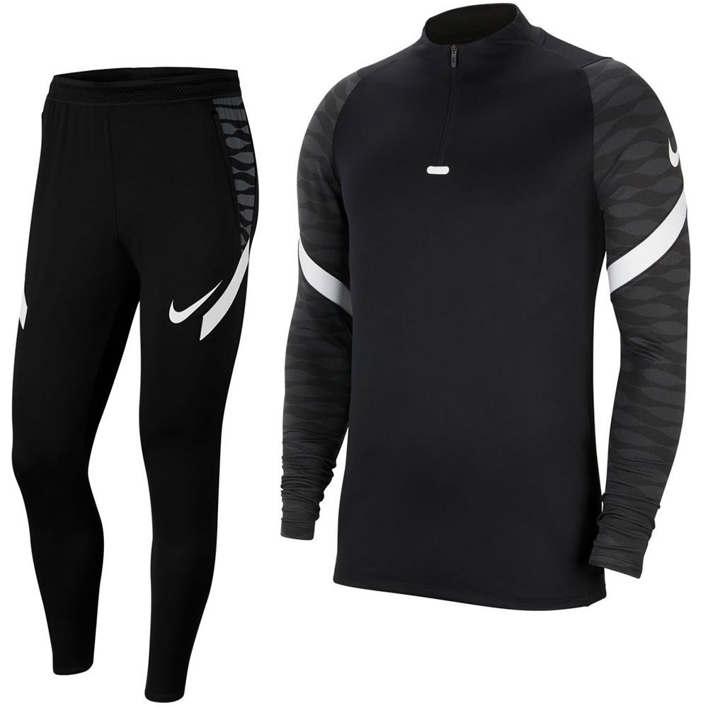Nike Strike 21 Trainingspak Kids Zwart Grijs Wit