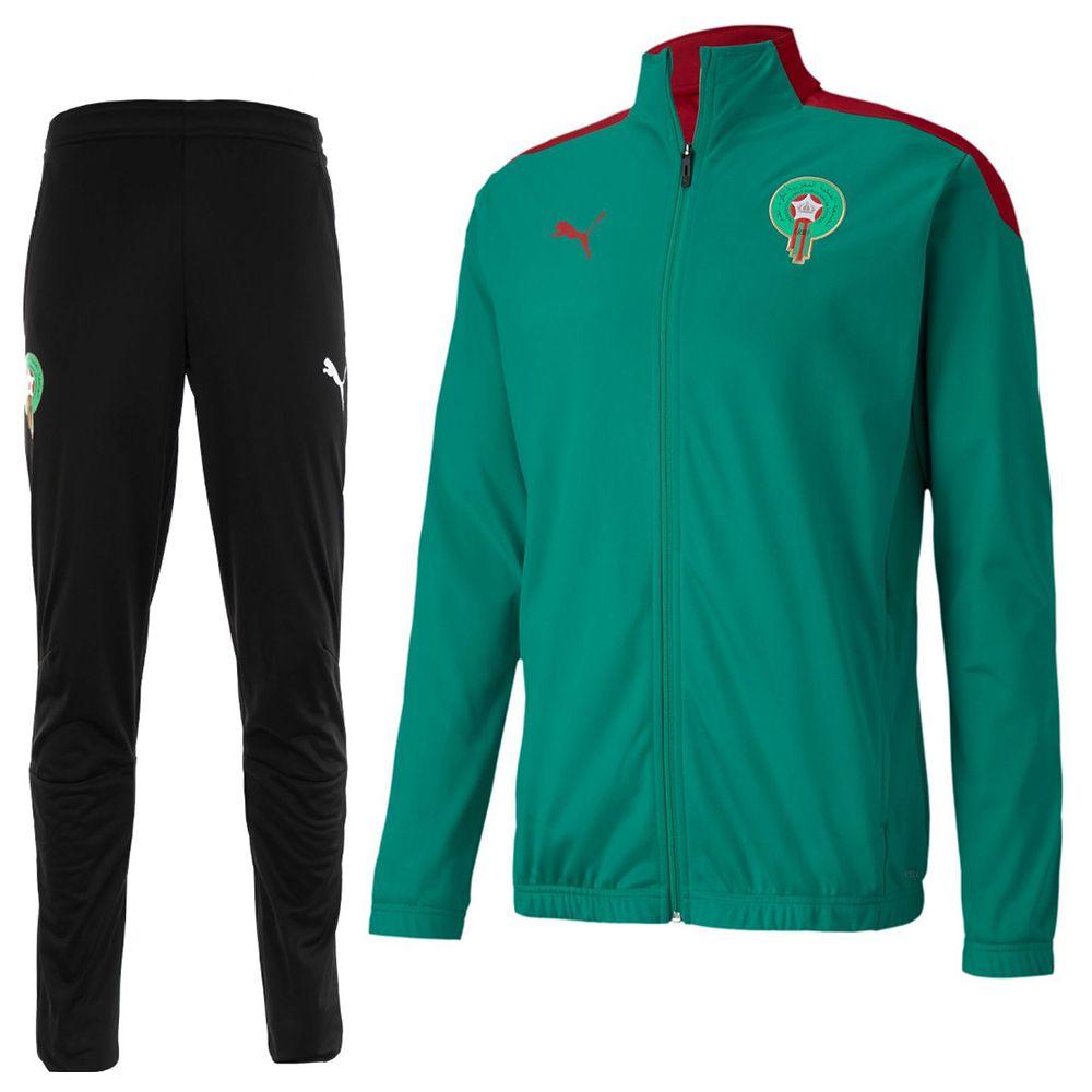 PUMA Marokko Stadium Trainingspak 2020-2021 Groen Zwart