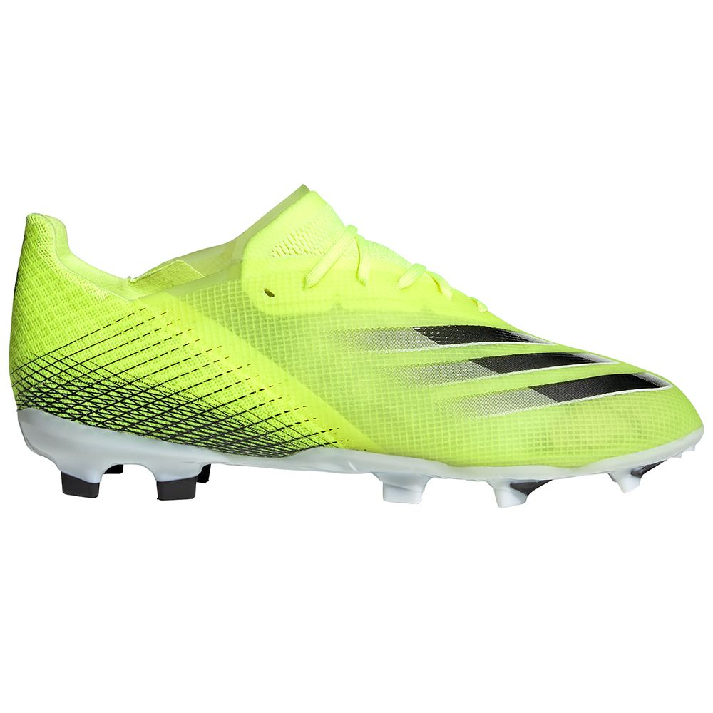 adidas X Ghosted.1 Gras Voetbalschoenen (FG) Kids Geel Zwart Blauw