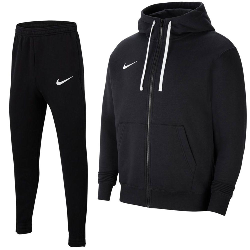 Nike Park 20 Fleece Full-Zip Trainingspak Kids Zwart