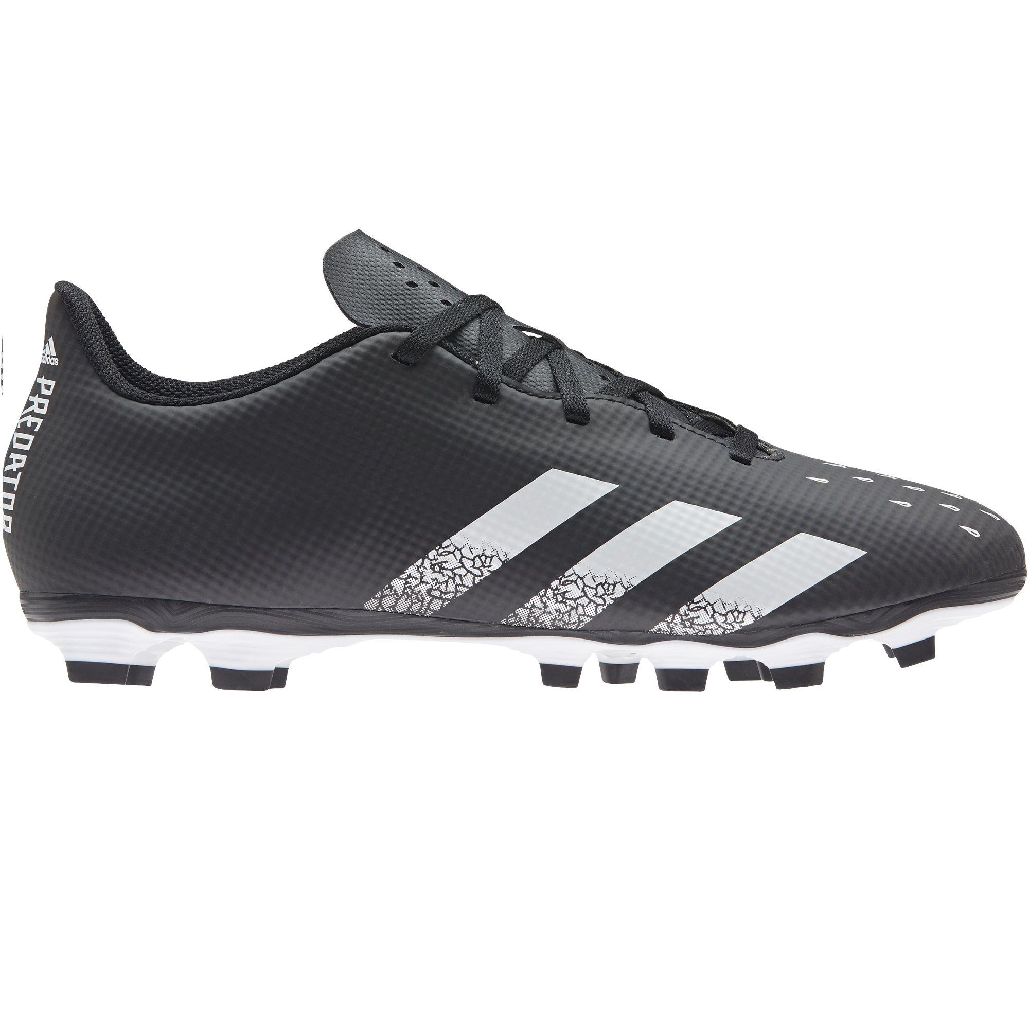 adidas Predator Freak.4 Gras / Kunstgras Voetbalschoenen (FxG) Zwart Wit Zwart