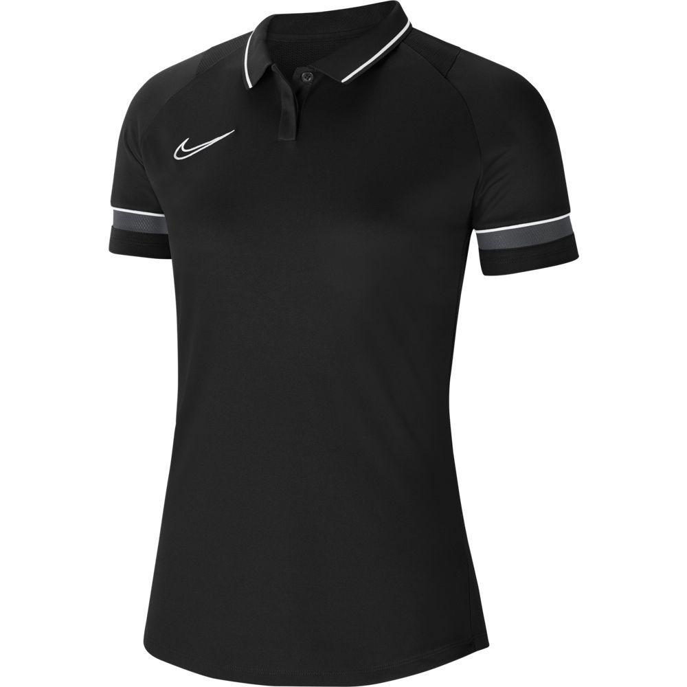 Nike Academy 21 Polo Dri-Fit Vrouwen Zwart Wit Antraciet