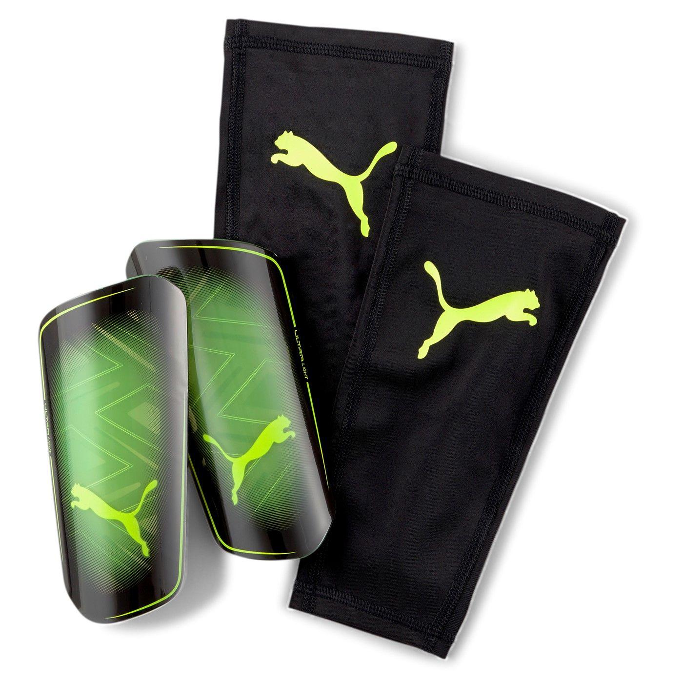 PUMA Ultra Light Scheenbeschermer Zwart Geel Groen