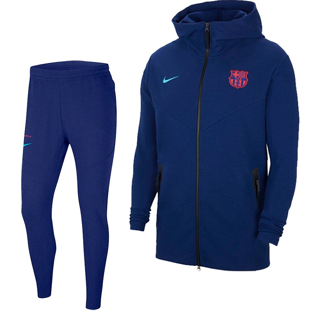 Nike FC Barcelona Tech Fleece Pack Trainingspak 2021 Donkerblauw
