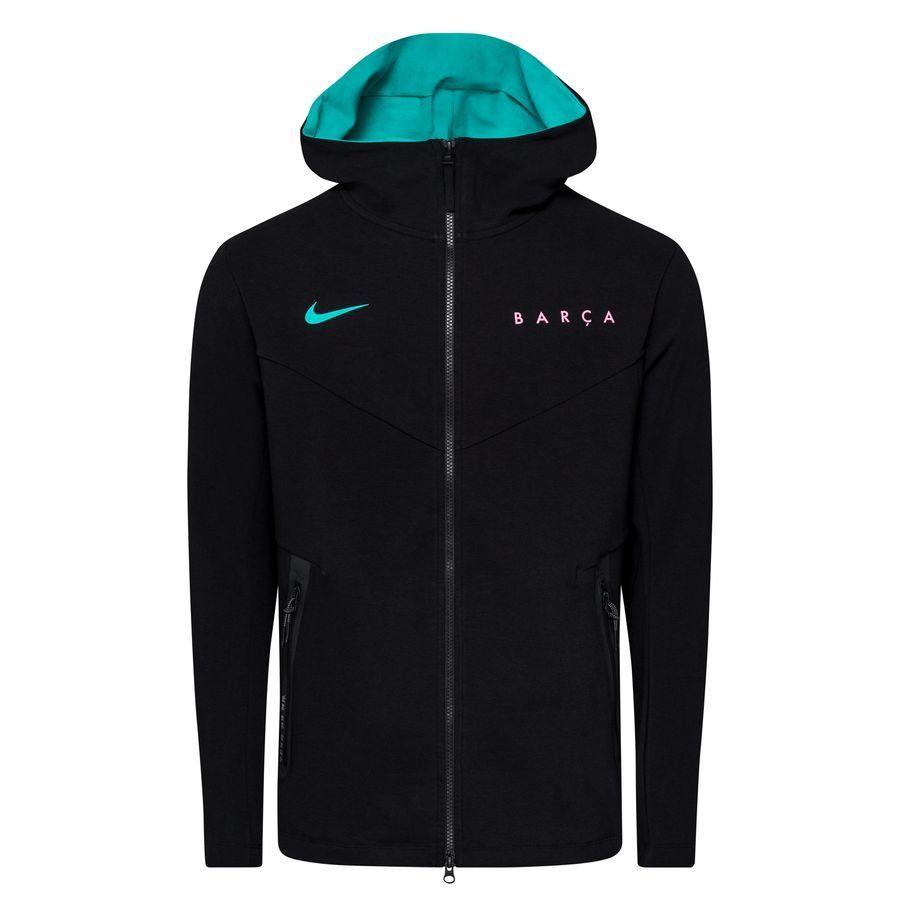 Nike FC Barcelona Tech Fleece Pack Hoodie FZ CL 2020-2021 Zwart