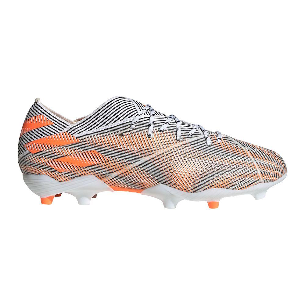 adidas Nemeziz.1 Gras Voetbalschoenen (FG) Kids Wit Oranje Zwart