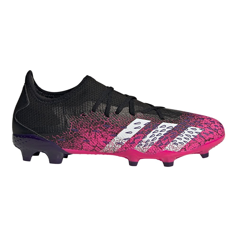 adidas Predator Freak.3 Low Gras Voetbalschoenen (FG) Zwart Wit Roze