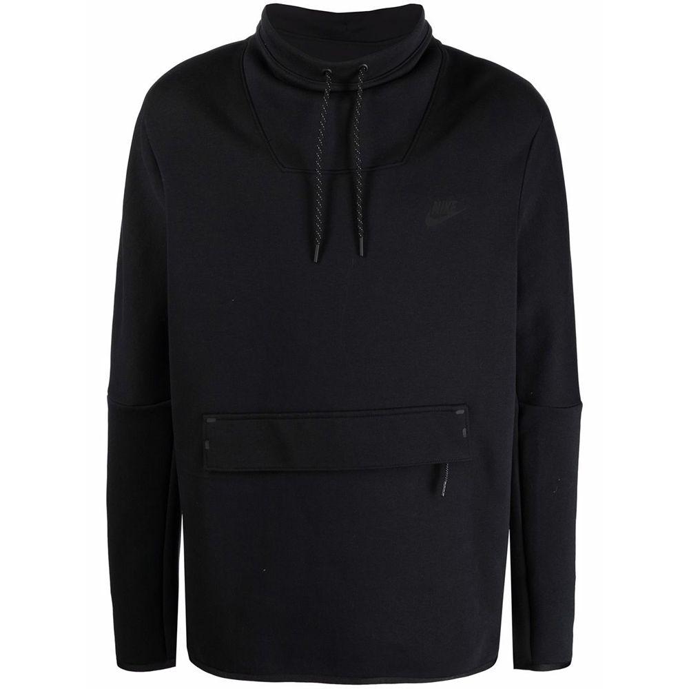Nike SW Tech Fleece Sweater Funnel Zwart