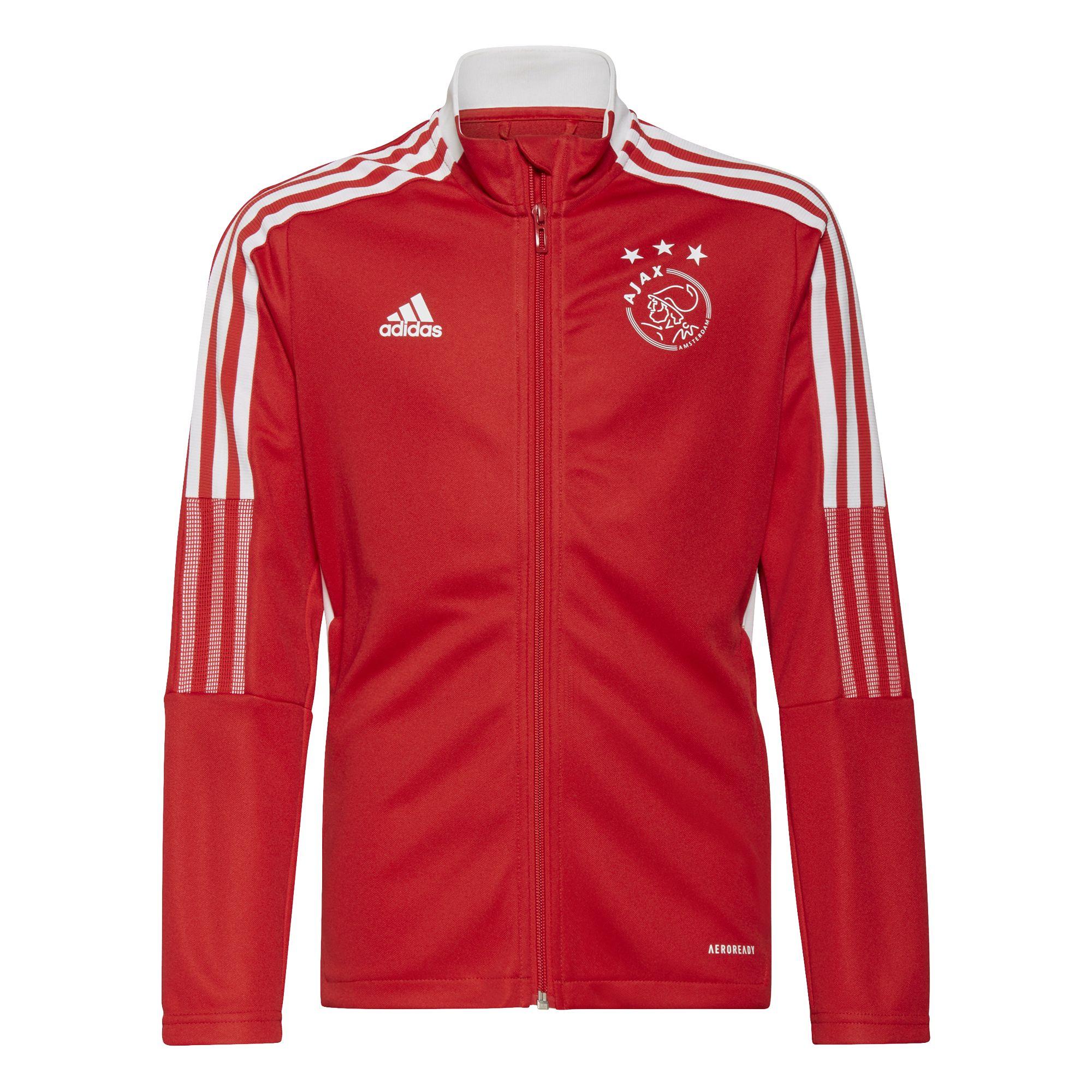 adidas Ajax Trainingsjack 2021-2022 Kids Rood