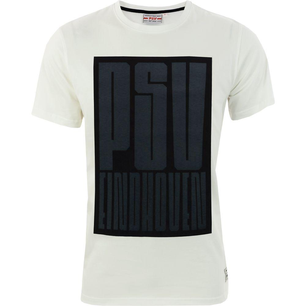 PSV T-shirt Block Kids wit-zwart
