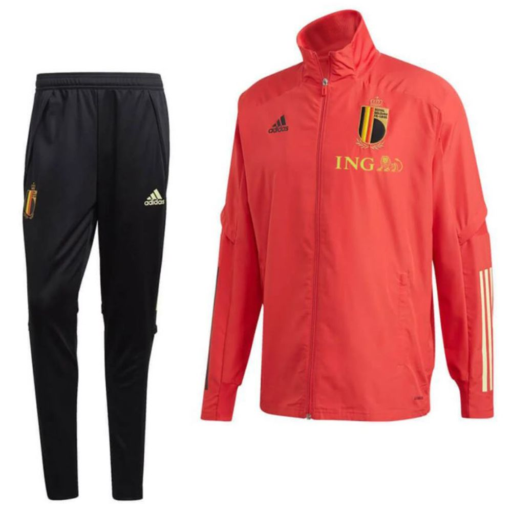 adidas België Presentatie Trainingspak 2020-2022 Rood Zwart