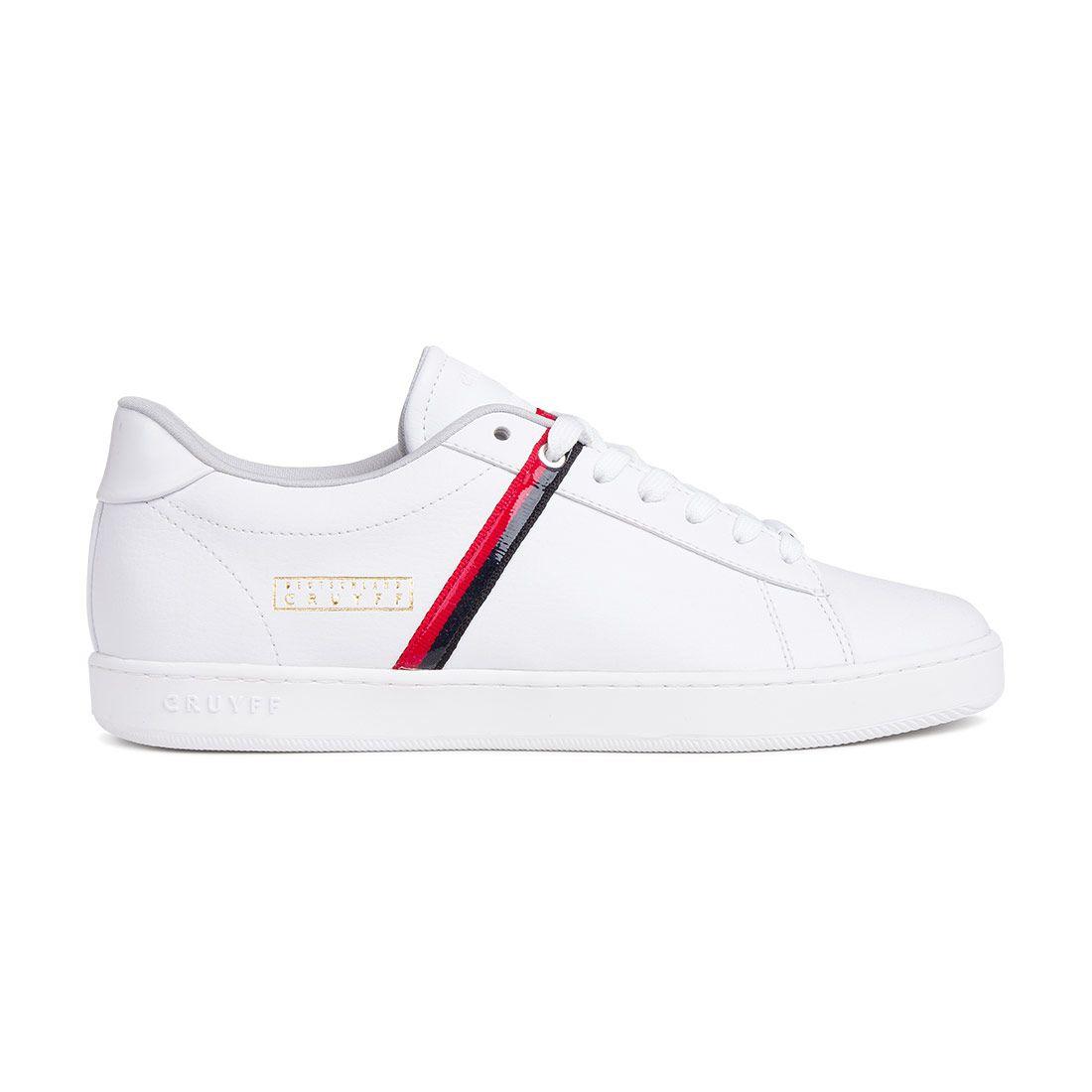 Cruyff Sylva Germany Sneakers Wit Zwart Rood