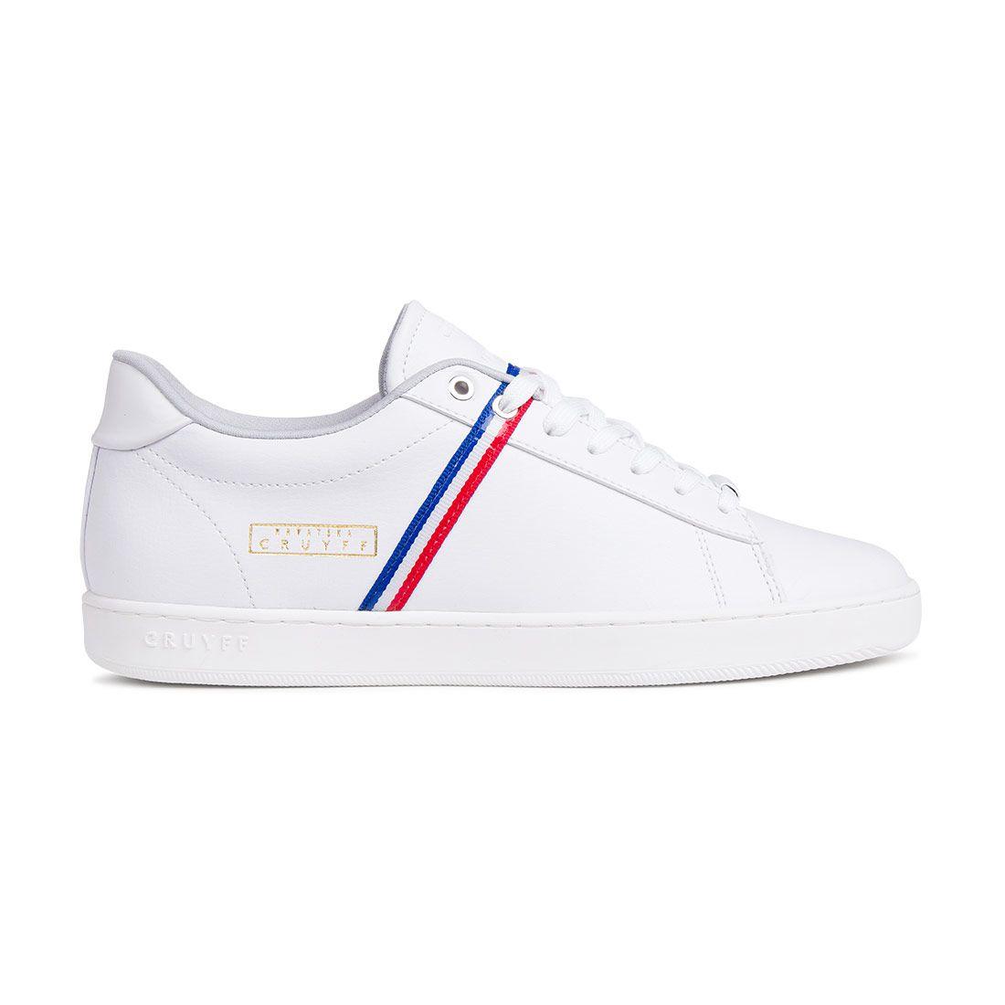 Cruyff Sylva Kroatië Sneakers Wit Donkerblauw Rood