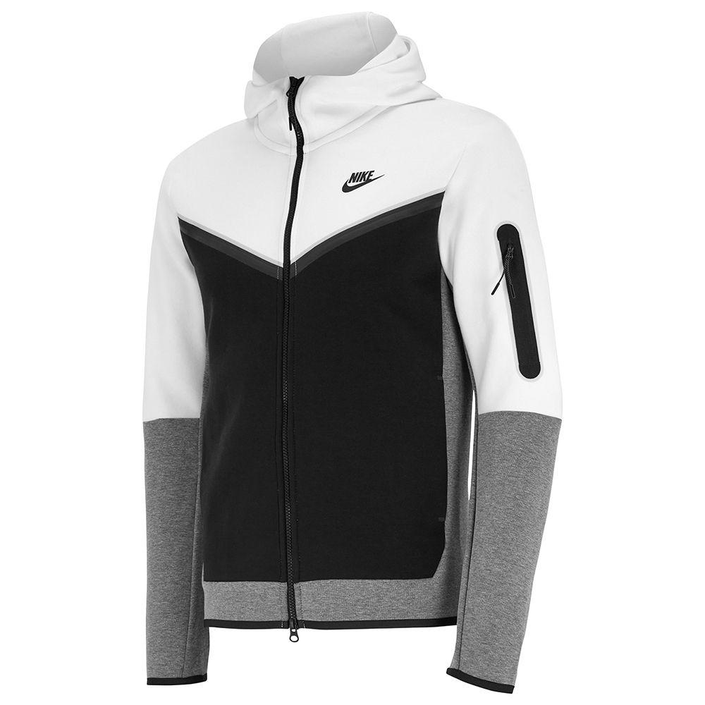 Nike Tech Fleece Hoodie Full Zip Windrunner Wit Zwart Grijs